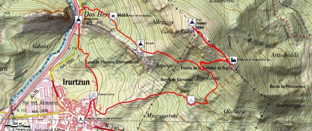 Recorrido Corto (9 km y 700 m